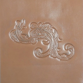 Patterned embossed leather