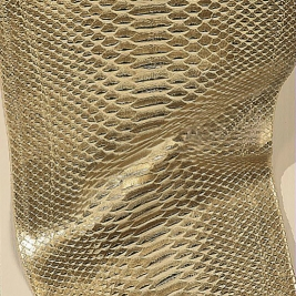 Metal snake leather